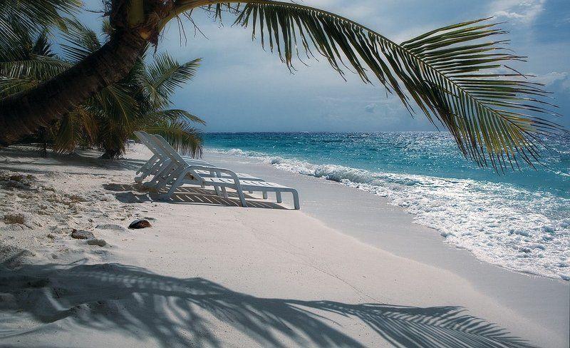 мальдивы, океан, мост, бунгало, пальмы, остров, шезлонг, рай, облака, лазурная вода плацкарт для двоих....photo preview