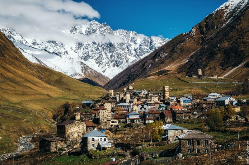грузия, пейзаж, горы, сванетия Ушгулиphoto preview