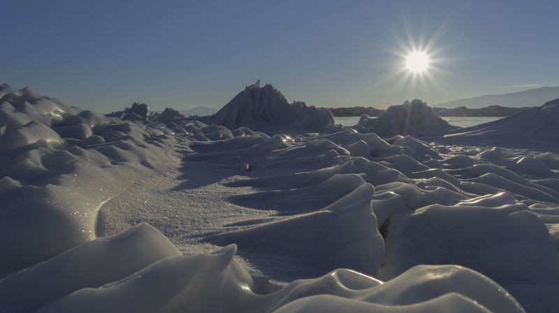 пейзаж, озеро, байкал, солнце, лед, снег Арктический Байкалphoto preview