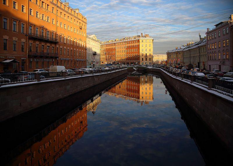 санкт-петербург канал грибоедова сенная Погожий зимний деньphoto preview