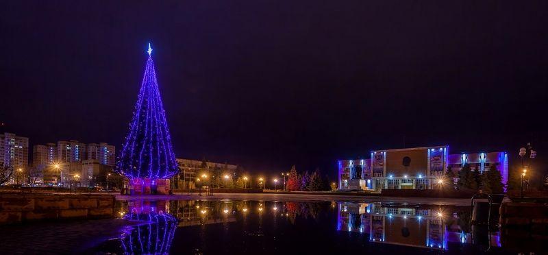 город, ночь, орехово-зуево Ночной городphoto preview