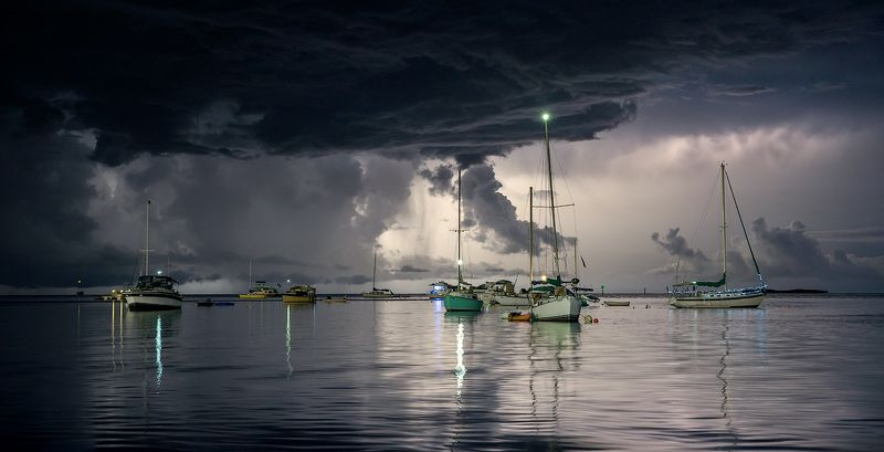 #tropical_storm #sailboaats #cloudy_sky #lightningstrike #storm Sailboat Skyphoto preview