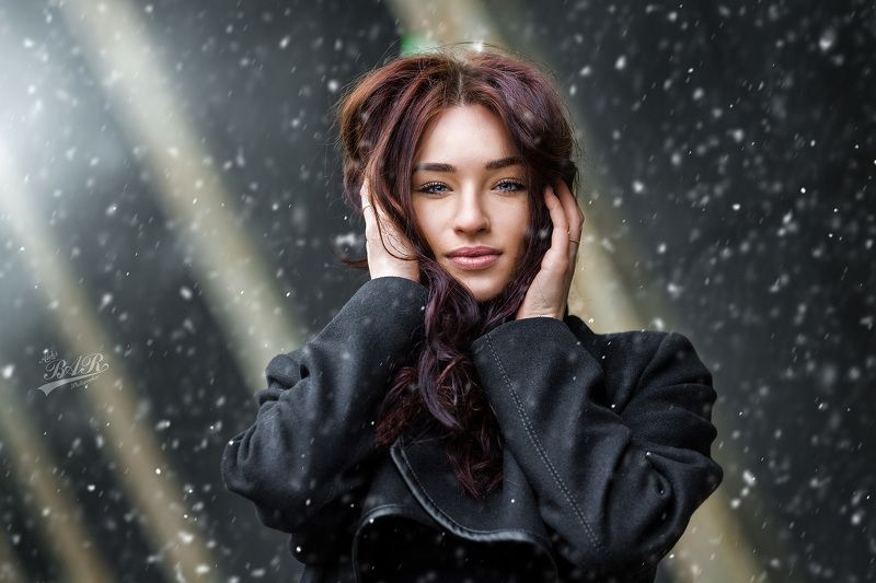 девушка, зима, снег, портрет Зимний Портрет для Ирыphoto preview