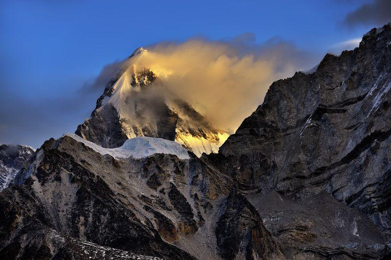 горы, утро, непал, гималаи Золото вершин.photo preview