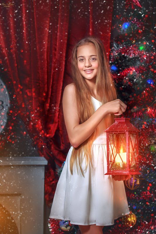 christmas,girl,winter Night before Chirstmasphoto preview