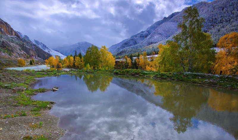 алтай, осень, река, вода, горы, чуйский_тракт, чуя, белый_бом, краски,  валерий_чичкин Холодная осеньphoto preview