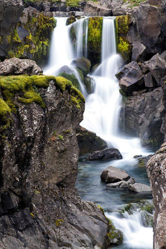 waterfall, iceland, travel, nature, водопад, природа, путешествия, исландия Waterfall somewhere in Icelandphoto preview