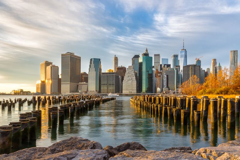 манхэттен, нью-йорк, архитектура, город Геометрия Манхэттенаphoto preview