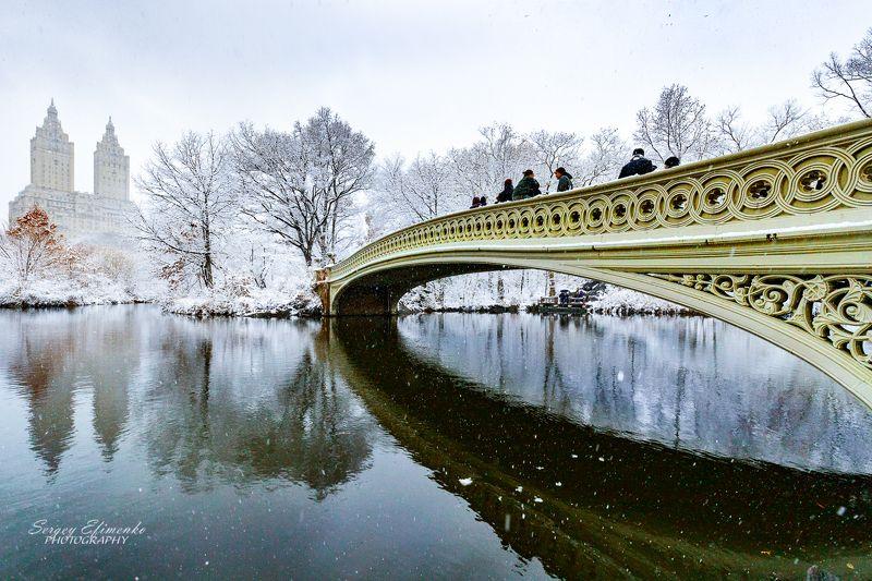 нью-йорк, зима, город, манхэттен, снег Зима в Центральном парке Нью-Йоркаphoto preview