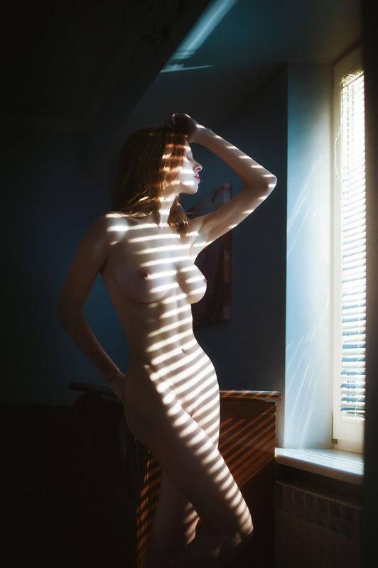 девушка, ню, эротика, свет **photo preview