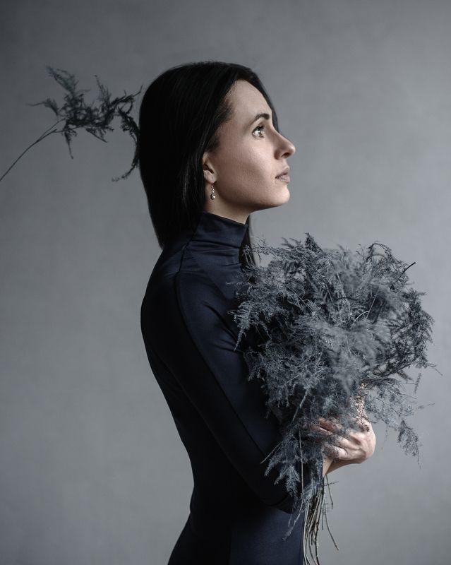 ботаника, ростения, женский портрет, натуральный свет, Еленаphoto preview