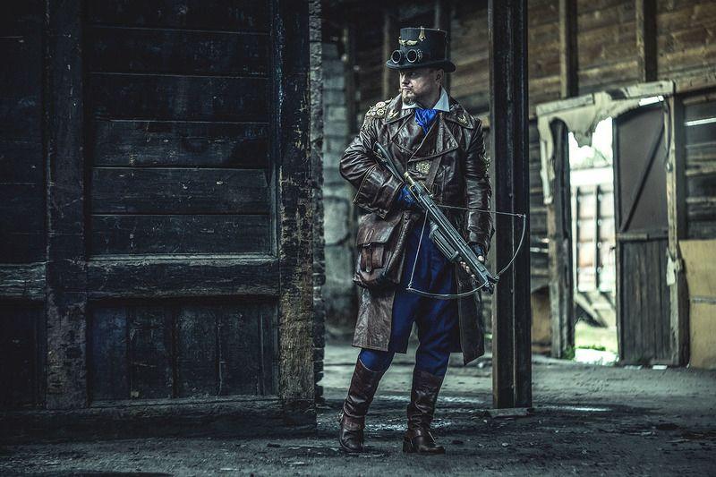 охотник,ведьма,стимпанк,экшен,фото,постановочная фото,доктор Маркус,портрет,мужчина,очки,гогглы,викторианская эпоха,жанр,жанровый портрет, steampunk Охотник на ведьмphoto preview