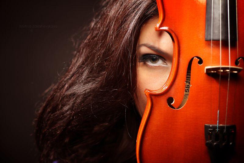 портрет , скрипка, абстракция, девушка со скрипкой ***photo preview