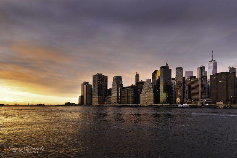 newyork, manhattan, city, architecture, нью-йорк, манхэттен, Вечерний Манхэттен, Нью-Йоркphoto preview
