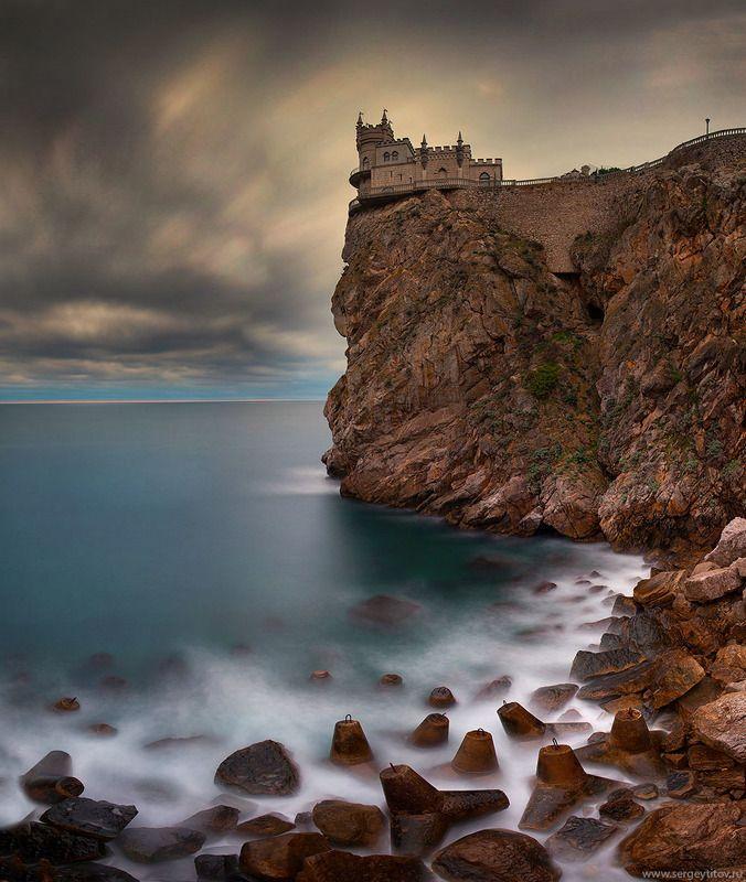 крым, ялта, ласточкино гнездо, замок, пляж, волна, скала, небо, крымские пейзажи, фотограф крым, фотограф ялта Ласточкино гнездоphoto preview