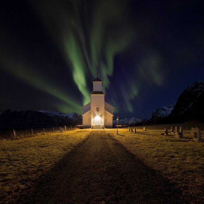 aurora, norway,borealis,church Take me to churchphoto preview