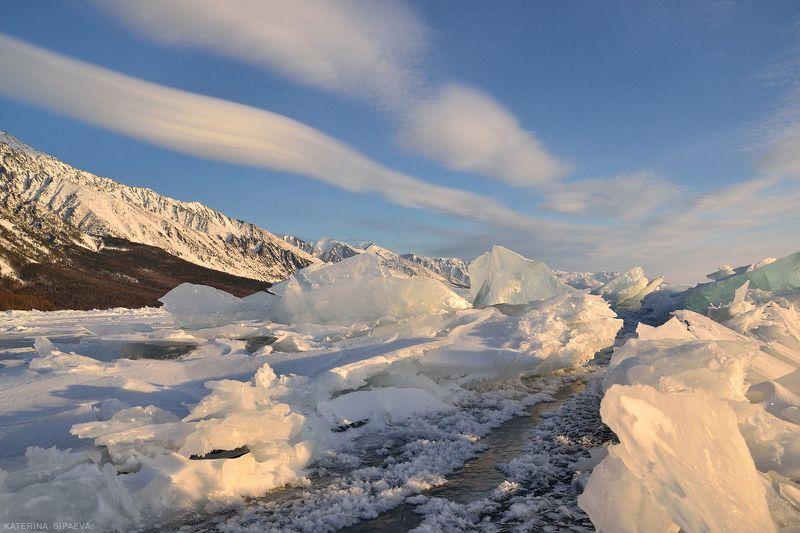 байкал, пейзаж, зима Байкальское утроphoto preview