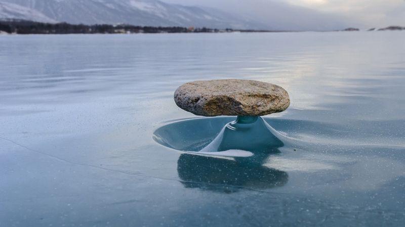 природа, пейзаж, байкал, лед, камень Байкальский феноменphoto preview