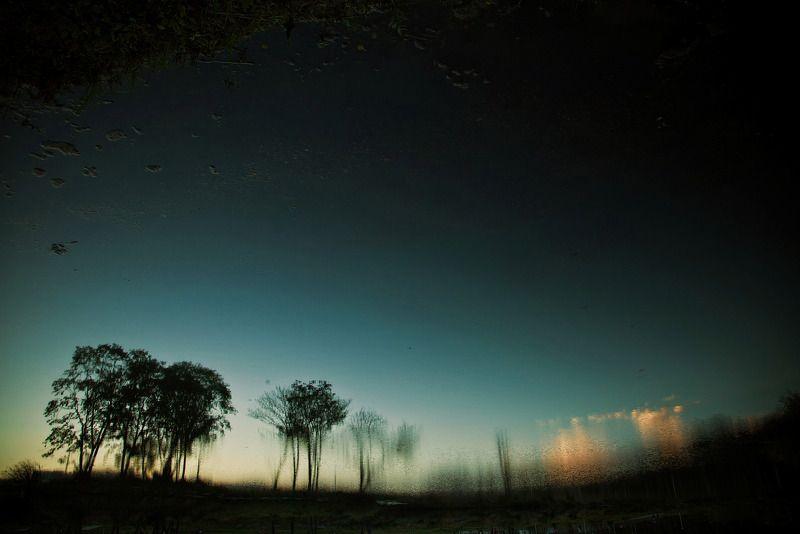 владивосток, приморье, вечер, пруд, закат, отражение августphoto preview