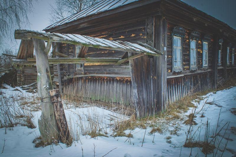 деревня, рязанская область, зима, Засыпающая деревняphoto preview