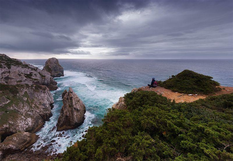 Португалия, Синтра, мыс Рока, океан Над Атлантикойphoto preview