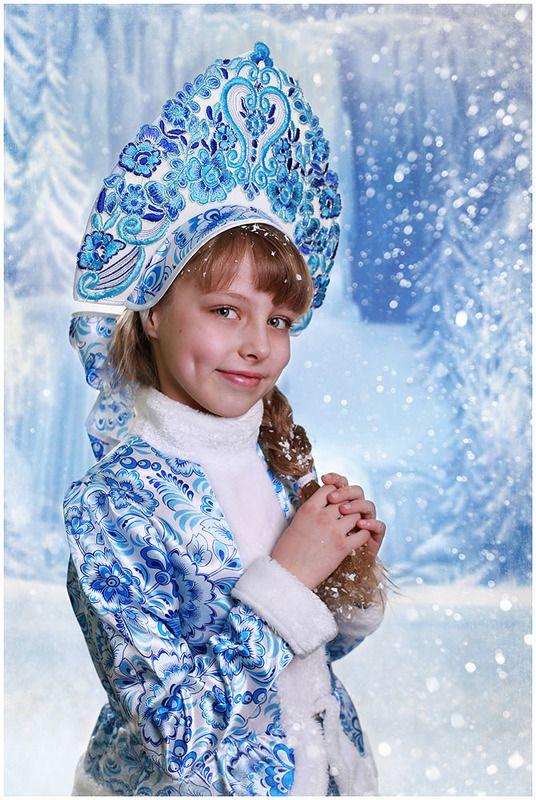 дети портрет снегурочка новый год Снегурочкаphoto preview