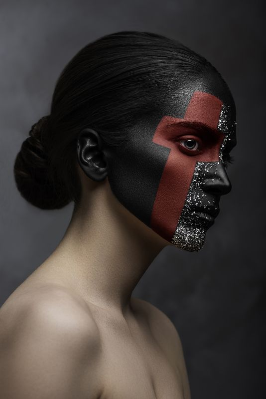 beauty, concept, fine art, red, cross, dark portrait, portrait, make up, world war ii The Red Cross IIIphoto preview