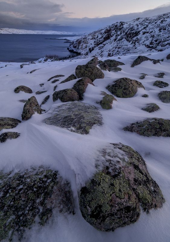 териберка, баренцево море, север, северное сияние, тундра, кольский полуостров, заполярье Дорогами тундрыphoto preview