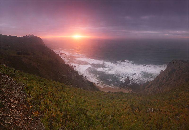 португалия, океан, закат Мыс Рокаphoto preview