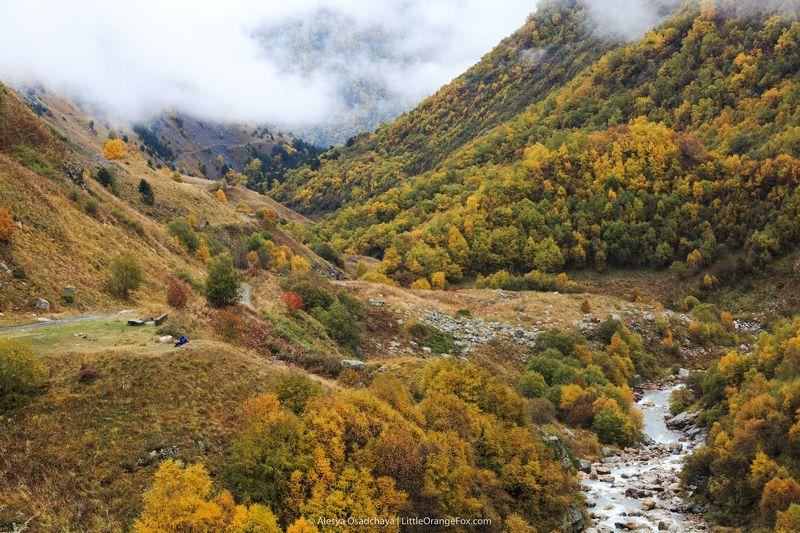 кавказ, горы, осень, пейзаж, северная осетия Осенняя Аланияphoto preview
