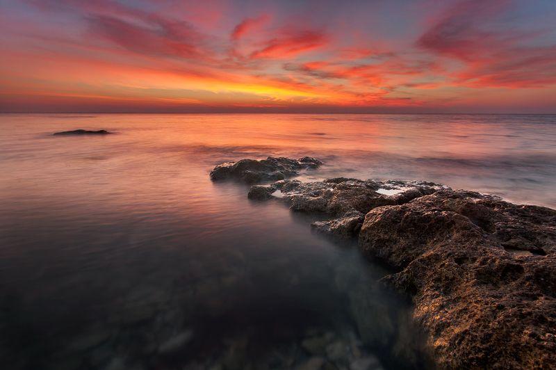 море, рассвет, черное море Крокодилphoto preview