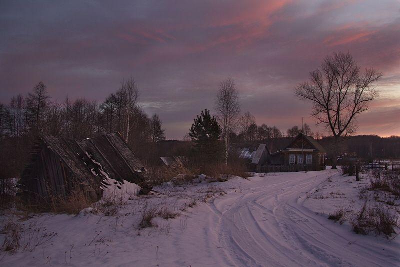 пейзаж зима утро Утро в Обрезках.photo preview