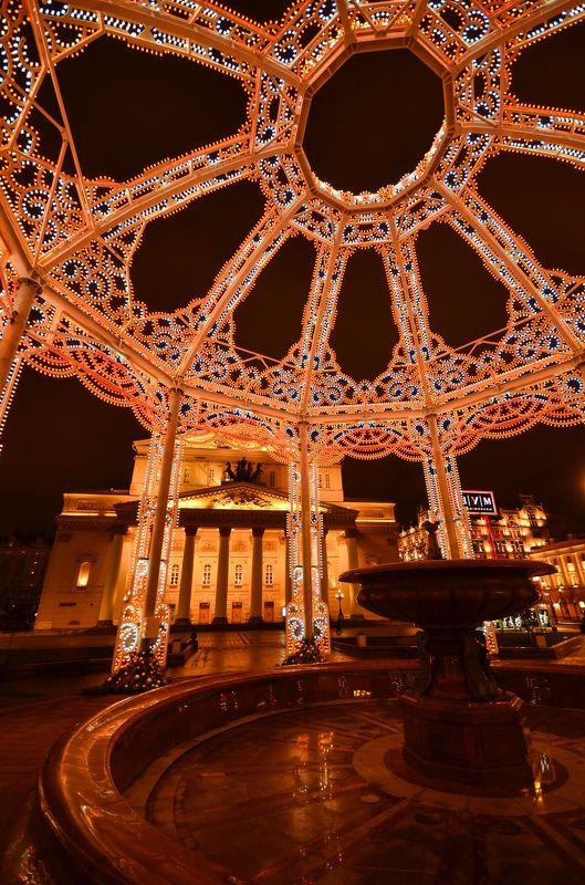 новый год, большой театр Круги и колонныphoto preview