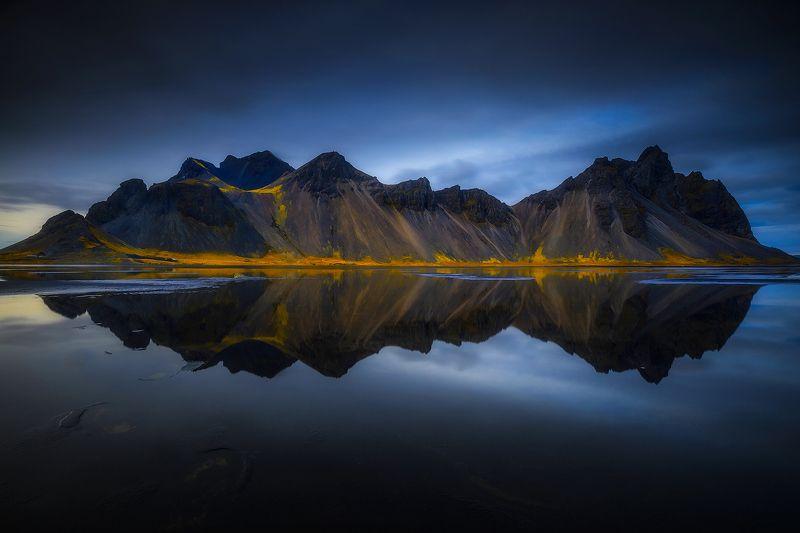 stokksnes iceland landscape reflection blue mountain water  stokksnesphoto preview