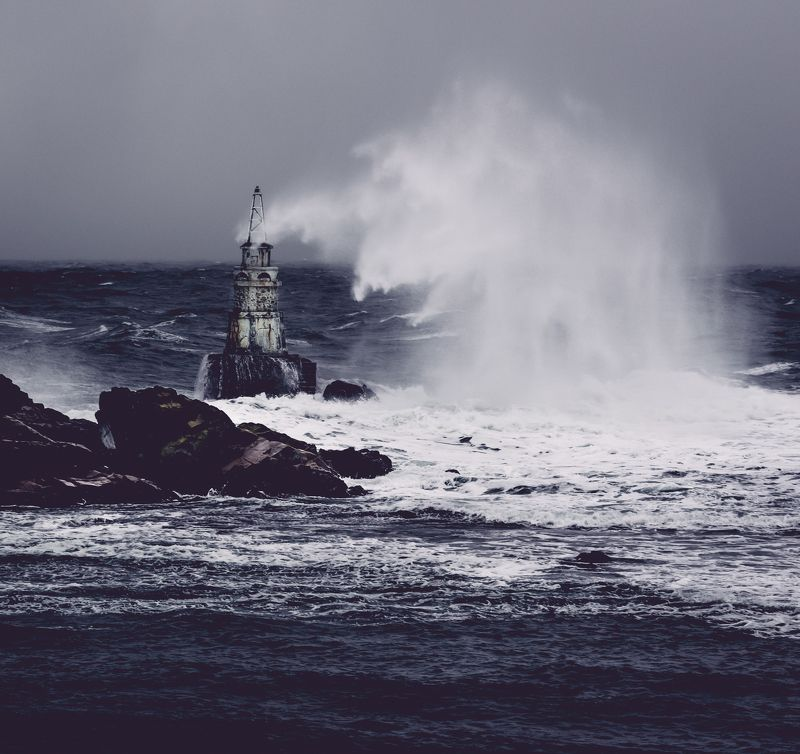 sea, storm, wind, water,lighthouse,landscape,nature,wave,monster Monsters everywherephoto preview