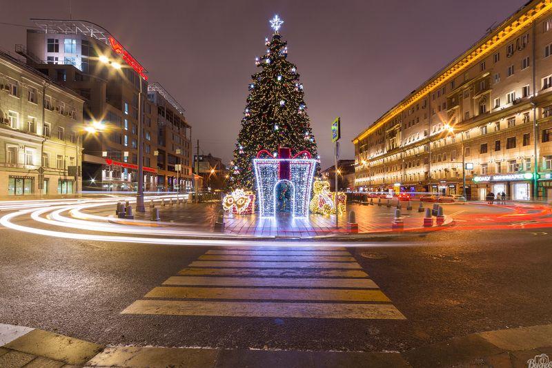 москва,цветной бульвар,город,столица,ёлка Новогодний Цветной бульвар в Москвеphoto preview