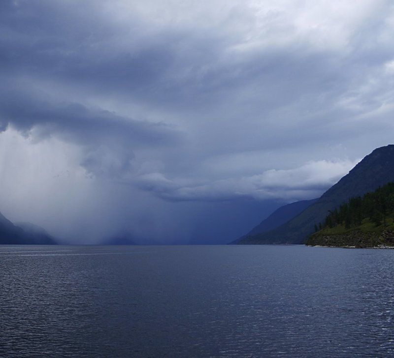 алтай, телецкое, озеро, шторм, стена, природа 10 минутная стенаphoto preview