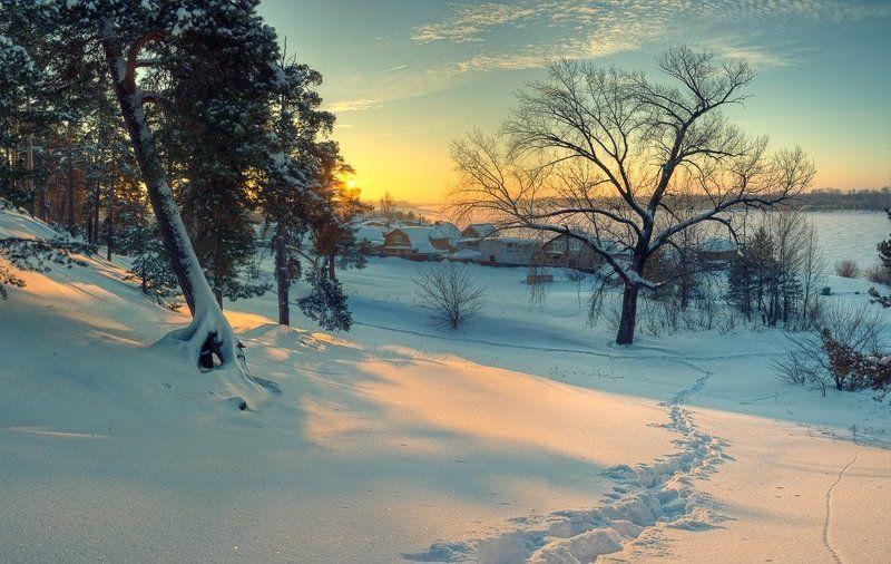 утро, рассвет, зима рождественское утроphoto preview