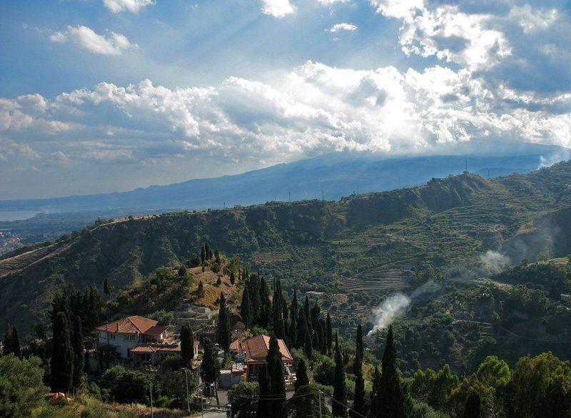 остров, сицилия, горы, небо Сицилияphoto preview
