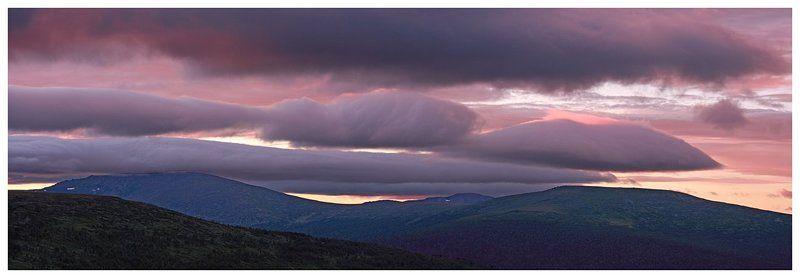 лето,небо,северный урал,горы,панорама Причудливое небо Уральских горphoto preview