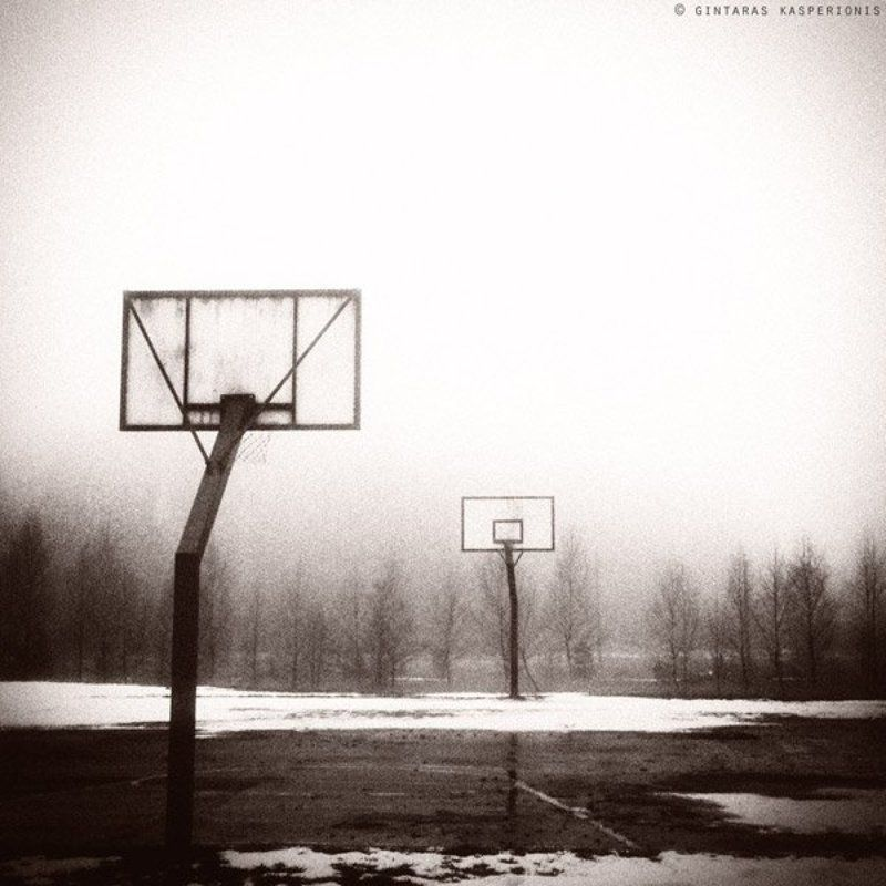 перерыв, kasperionis, lithuania, sepia, toned, toning, snow, баскетбол, снег, перерывphoto preview