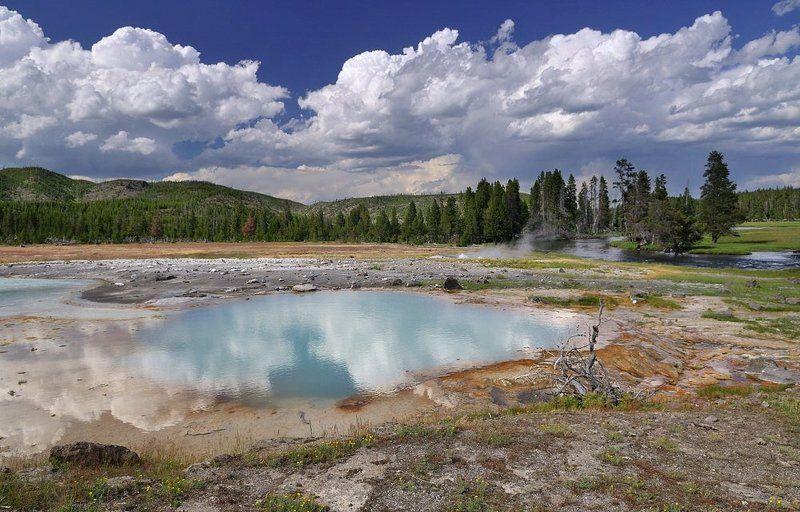 облака, природа, река, озеро, горы ***1photo preview