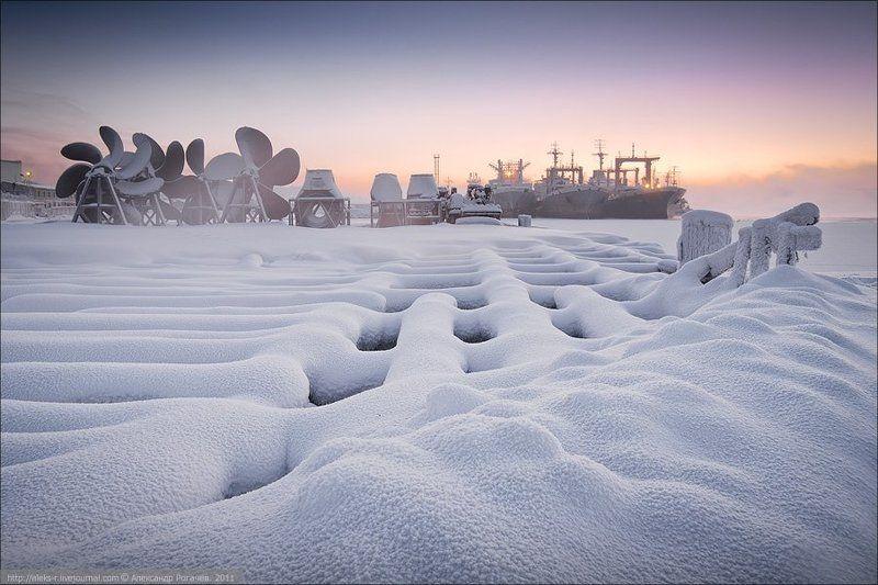 мурманск,январь,мороз На излете полярной ночи.photo preview