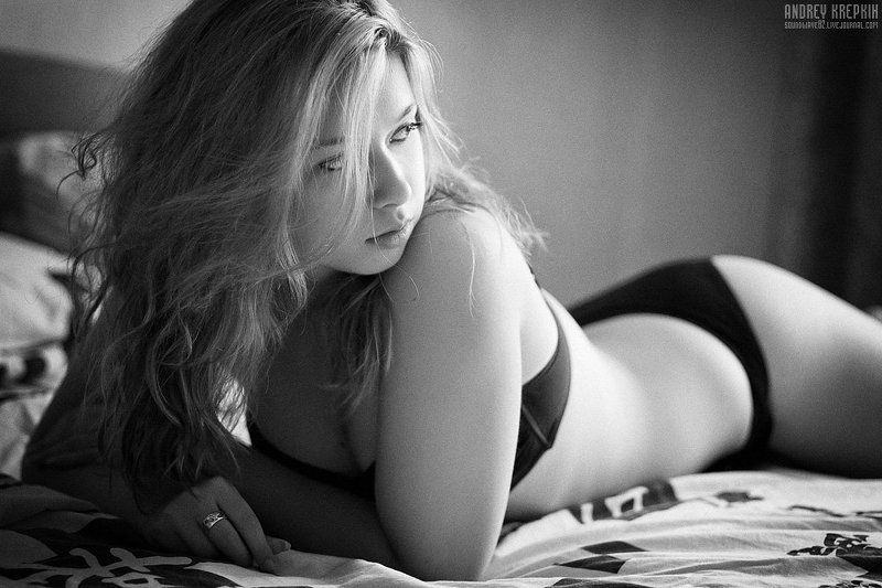 девушка, наташа, портрет, постель Наташаphoto preview
