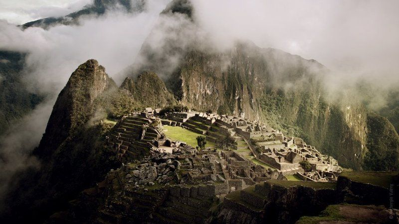 южная америка, мачу-пикчу, machu-pichu, инки, перу, америка, облака, горы, развалины Мачу Пикчу (Machu Pichu)photo preview