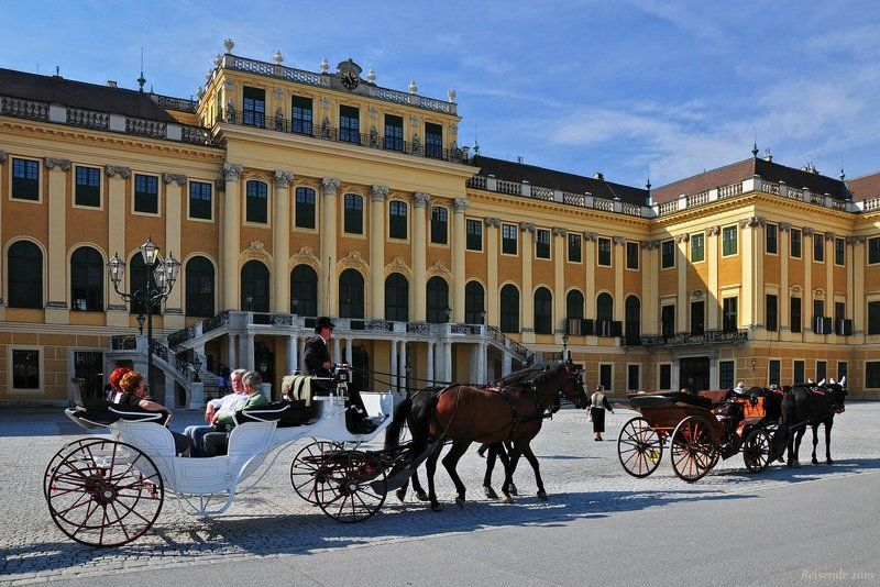 австрия, вена, дворец, шёнбрунн, schoenbrunn, фиакр Шёнбрунн. Фиакрыphoto preview