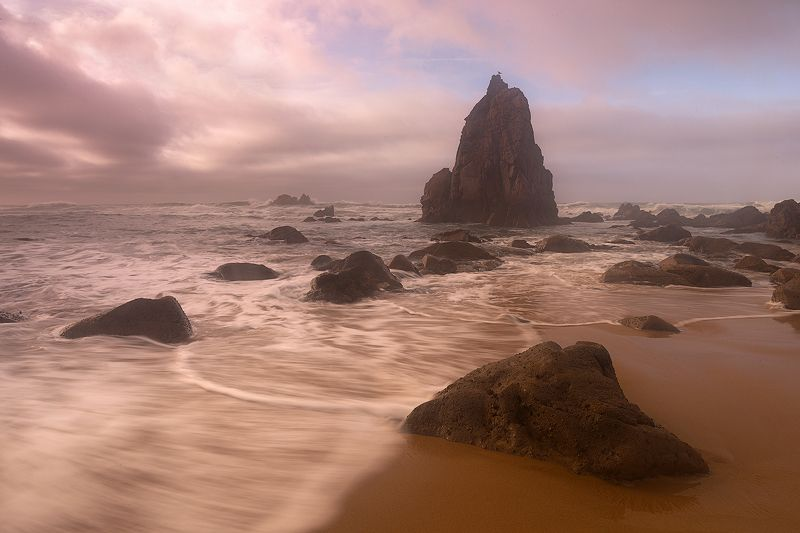 Португалия, океан, урса,  Теплый вечер у океанаphoto preview