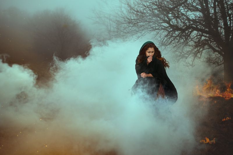 smoke, woman, war, fire When all the days have gonephoto preview