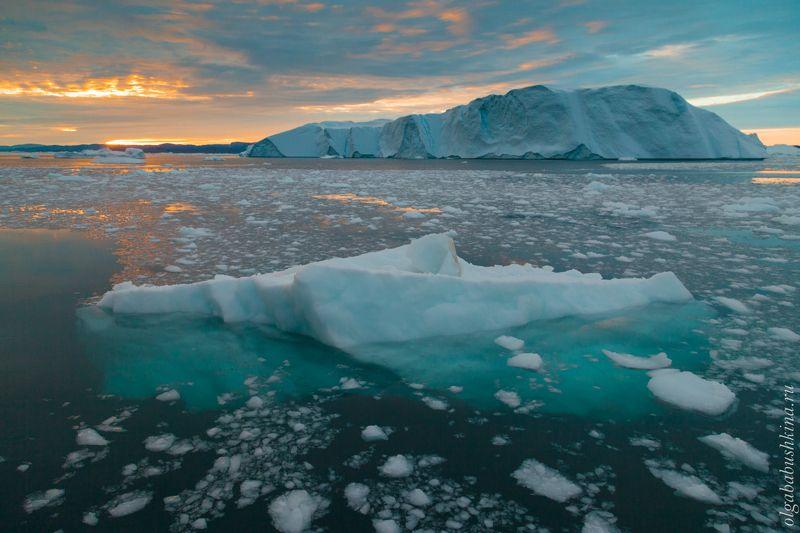 айсберги, айсберг, гренландия, арктика, закат Так устроены айсбергиphoto preview