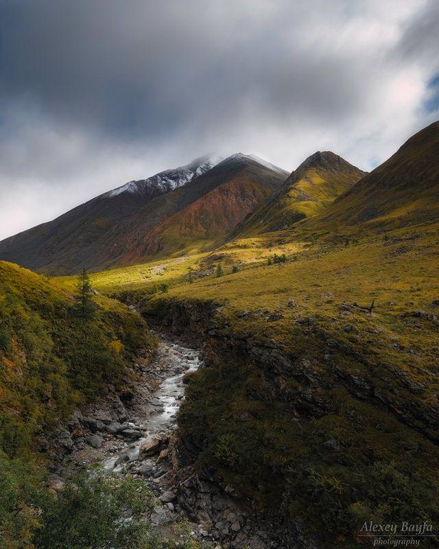 река, горы, пейзаж, природа, лето, сибирь, В долине Эхе-Гераphoto preview